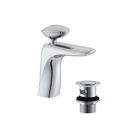 cooke lewis pebble 1 lever basin mixer tap departments. Black Bedroom Furniture Sets. Home Design Ideas