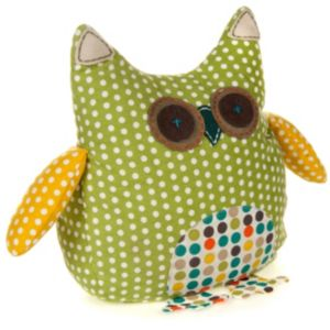 View Sunshia Owl Green & Yellow Doorstop details