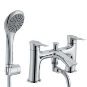 View Cooke & Lewis Oceanspray Chrome Bath Shower Mixer Tap details