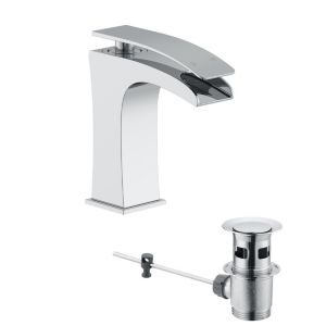 View Cooke & Lewis Waterfall 1 Lever Basin Mixer Tap details