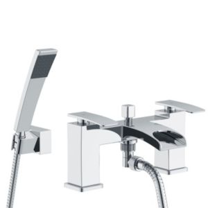 View Cooke & Lewis Waterfall Chrome Bath Shower Mixer Tap details