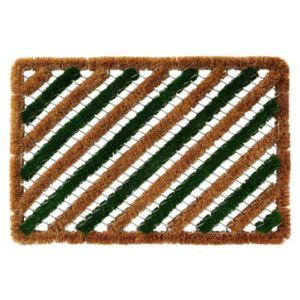 Image of Colours Green & Natural Coir Door Mat (L)600mm (W)400mm