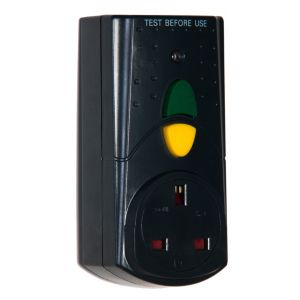 View Smj Black 1-Gang 240V 13A RCD Adaptor details