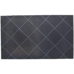 Image of B&Q Grey Rubber Door Mat (L)0.75m (W)750mm