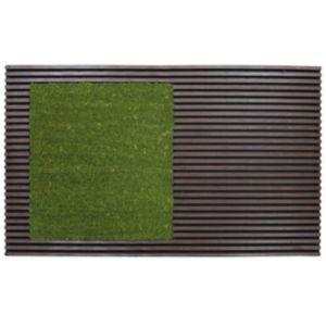 Image of Colours Green Coir & Rubber Door Mat (L)0.75m (W)450mm