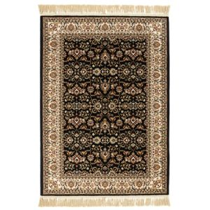 Colours Helina Beige & Black Persian Rug (L)1700mm (W)1200mm