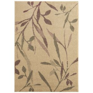 View Colours Aaliyah Beige & Purple Trailing Leaf Rug (L)2300mm (W)1600mm details