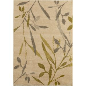 View Colours Aaliyah Beige & Green Trailing Leaf Rug (L)2300mm (W)1600mm details