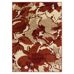 View Colours Antonia Beige & Red Floral Rug (L)2300mm (W)1600mm details