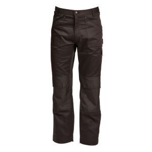 "Rigour Multi-Pocket Black Trousers W34"" L34"""