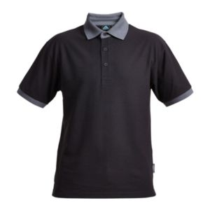 Image of Rigour Black & grey Polo shirt Large