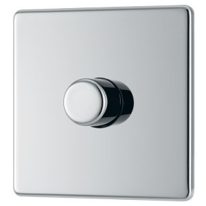 Image of Colours 2-Way Single Polished chrome Dimmer switch