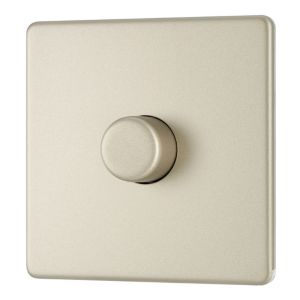 Image of Colours 2-Way Single Pearl Nickel Dimmer Switch