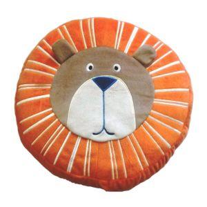 Image of Animal Friends Lion Orange & Brown Cushion