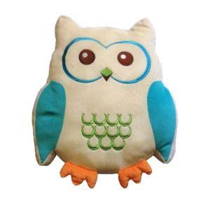 Image of Animal Friends Owl Blue & Cream Cushion