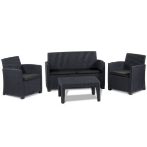View Elsa Rattan Effect 4 Seater Coffee Set details