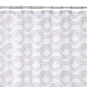 View Grey Love Knots Shower Curtain details