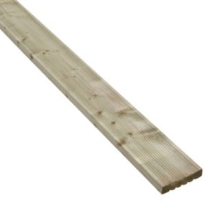 View Value Softwood Reversible Deck Board (W)120mm (L)2400mm (T)25mm details