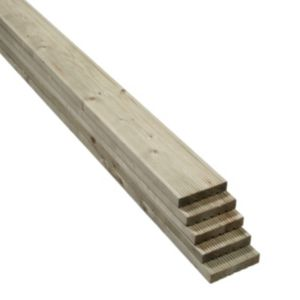 View Value Softwood Reversible Deck Board (W)120mm (L)2400mm (T)25mm, Pack of 5 details