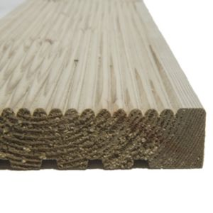 View Value Green Softwood Reversible Deck Board (W)120mm (L)2400mm (T)25mm, Pack of 5 details