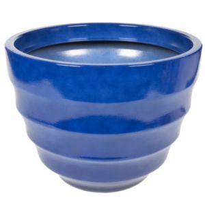 View Salhouse Lightweight Round Blue Pot (H)37cm (Dia)50cm details