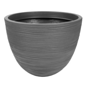 Image of Brook Round Grey Pot (H)37cm (Dia)50cm