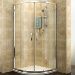 View Cooke & Lewis Deluvio Quadrant Shower Enclosure, Tray & Waste (W)800mm (D)800mm details