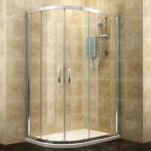 View Cooke & Lewis Deluvio Offset Quadrant Shower Enclosure, Tray & Waste RH (W)1200mm (D)800mm details