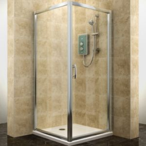 View Cooke & Lewis Deluvio Square Shower Enclosure, Tray & Waste (W)900mm (D)900mm details