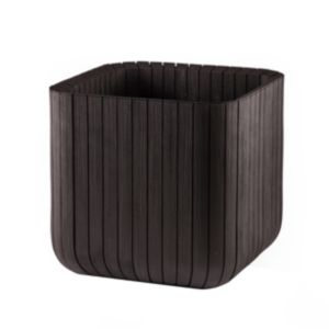 View Square Plastic Wood Effect Planter (H)39.5cm (L)39.5cm details