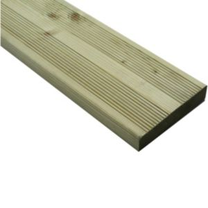 View Premium Green Softwood Reversible Deck Board (W)144mm (L)4800mm (T)28mm details