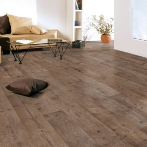 Colours Sicily Dark Brown Rustic Oak Effect Laminate Flooring 1.99m²