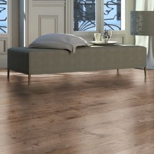 Colours Sicily Dark Brown Rustic Oak Effect Laminate Flooring Sample