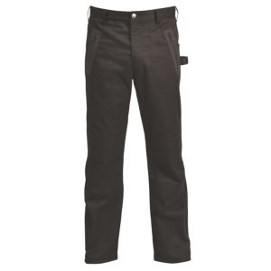 "Rigour Black Work Trousers W32"" L32"""