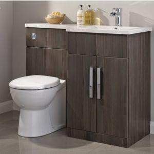 Cooke Lewis Ardesio Bodega Grey RH Vanity Toilet Pack Rooms