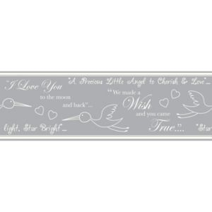 View Baby Colours Little Wish Silver Border details