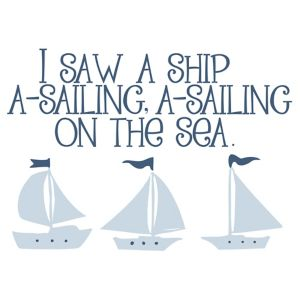 Image of Baby Colours Little Sailor Blue Wall Sticker
