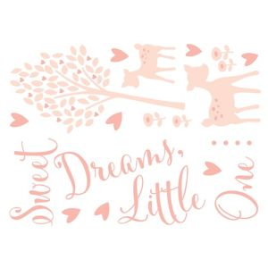 Image of Baby Colours Little deer Pink Wall sticker
