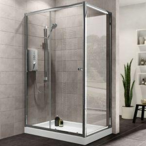 Plumbsure Rectangular Shower Enclosure W 1200mm D 760mm