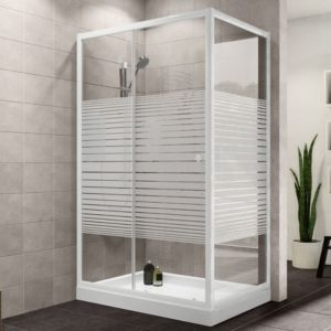 Plumbsure Rectangular Shower Enclosure With Single Sliding