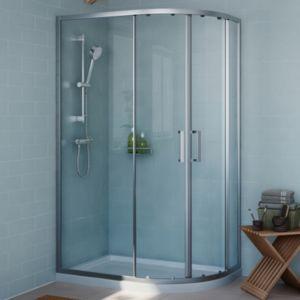 Cooke & Lewis Exuberance Offset Quadrant Shower Enclosure with Double Sliding Doors (W)1200mm (D)800mm