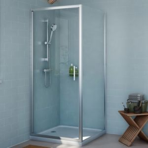 View Cooke & Lewis Exuberance Square Shower Enclosure with Hinged Door (W)900mm (D)900mm details