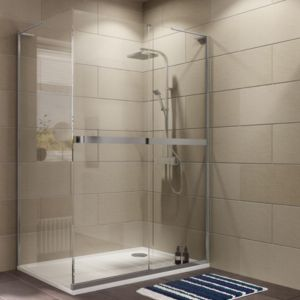 View Cooke & Lewis Grandeur Rectangular RH Shower Enclosure with Single Sliding Door (W)1400mm (D)900mm details
