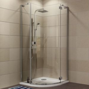 View Cooke & Lewis Luxuriant Quadrant Shower Enclosure with Hinged Door (W)870mm (D)870mm details