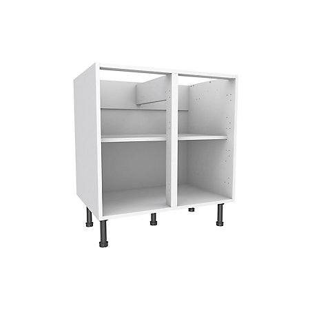 Cooke lewis white standard base cabinet w 800mm for Kitchen cabinets 800mm