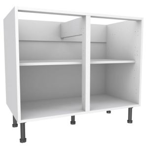 View Cooke & Lewis White Standard Base Cabinet (W)1000mm details