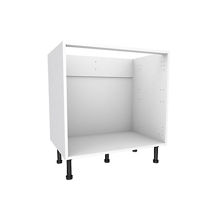 Cooke lewis white multi drawer base cabinet w 800mm for Kitchen cabinets 800mm