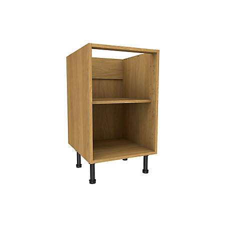 Cooke lewis oak effect standard base cabinet w 500mm for Kitchen cabinets 500mm