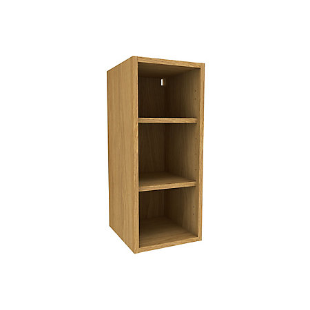 Cooke lewis oak effect deep wall cabinet w 300mm for 300mm deep kitchen units