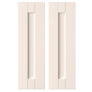 View IT Kitchens Brookfield Textured Ivory Style Shaker Corner Wall Door (W)625mm, Set of 2 details